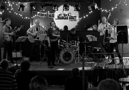 Live music from the Moon Jazz House Band